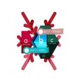 Christmas sale info banner vector image vector image