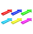Colored arrows 3d shiny icons