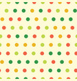colorful polka dots seamless pattern vector image