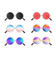 colorful realistic sunglasses vector image