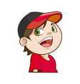 cute funny boy child happy image vector image vector image