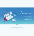 data analysis server isometric vector image