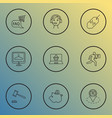 ecommerce icons line style set with call center vector image vector image