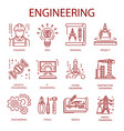 engineering icons for construction building or vector image
