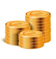 Euro Golden Coins Stacks vector image