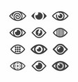 eye symbol icons vector image vector image
