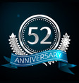 fifty two years anniversary celebration design vector image