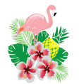 flamingos vector image vector image