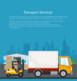 flyer warehouse and transportation services vector image