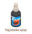 fog spray icon isometric 3d style vector image