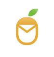fresh fruit mail unique icon symbol design vector image