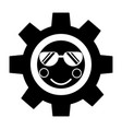gear with sunglasses kawaii icon image vector image vector image