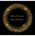Gold sparkles Banners Abstract Beauty Merry vector image vector image