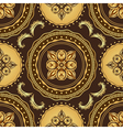Golden and brown seamless pattern vector image vector image