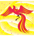 Graceful Firebird on abstract background vector image