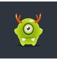 Green Alien With Antlers vector image vector image