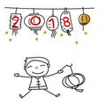 hand drawing cartoon character people happy vector image vector image