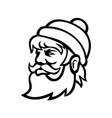 head paul bunyan lumberjack side view mascot vector image vector image