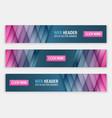 horizontal website header or banner vector image vector image