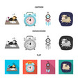 isolated object of dreams and night icon vector image vector image