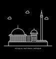 istiqlal national mosque icon muslims religion in vector image vector image