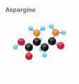 molecular omposition and structure of asparagine vector image vector image