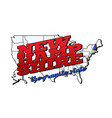 new hampshire state with us new hampshire state vector image