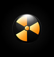 nuclear radiation abstract symbol on a black vector image