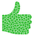 ok mosaic of glad smile icons vector image