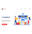 online commerce concept vector image vector image