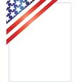 patriotic american frame vector image vector image