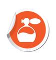perfume icon orange sticker vector image vector image