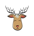 Reindeer xmas cartoon vector image vector image