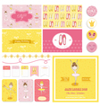 Scrapbook Design Elements - Cute Balerina Set vector image vector image
