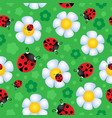 seamless background flower theme 2 vector image