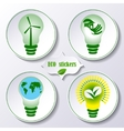 Set of stickers ecology concept vector image vector image