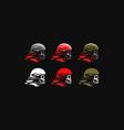 skull in a helmet vector image vector image