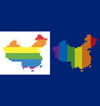 spectrum pixel dotted china map vector image