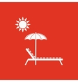 The lounger icon Sunbed symbol Flat vector image vector image