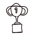 trophy first place vector image vector image