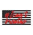 united states national flag colors and lettering vector image
