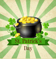 vintage background with pot of gold vector image vector image