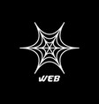 web spider logo design inspiration vector image