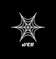 web spider logo design inspiration vector image vector image
