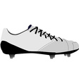 White football shoe vector image vector image