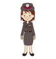 woman thai polices in uniform vector image