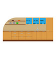 kitchen cabinet furniture interior icon design vector image