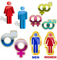 men and women icons vector image