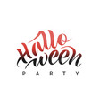 halloween party text for vector image