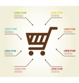 Shopping infographic template vector image